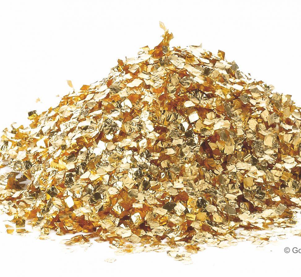 Quadratus aus Blattgold