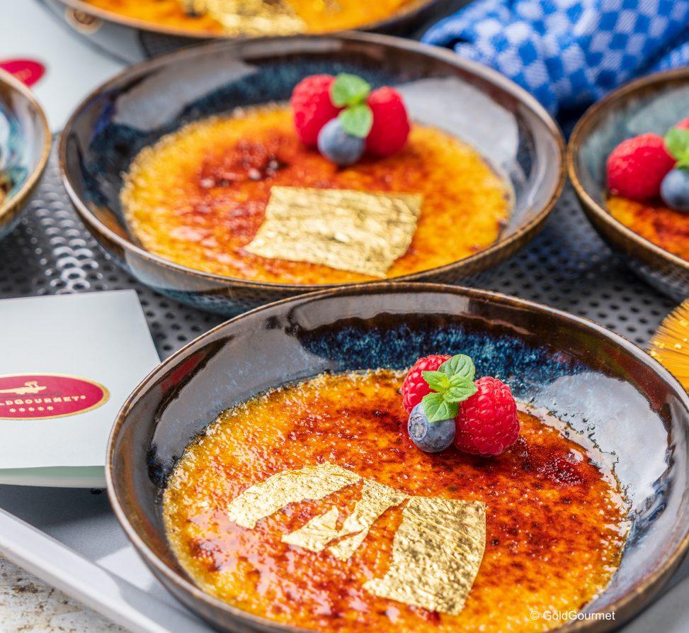 Crème Brûlée mit Blattgold